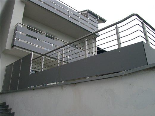 Geländer Inox HPL.Platten