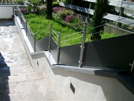 Geländer weitere Ansicht von oben herab