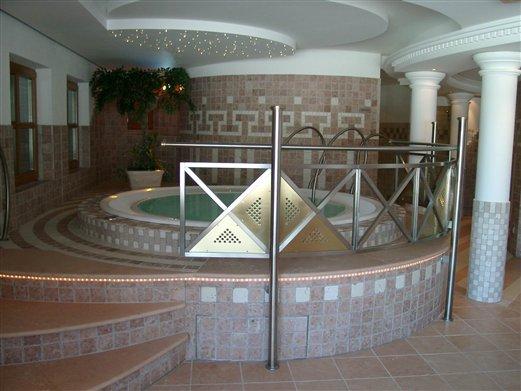 Whirlpool Geländer Inox Messing