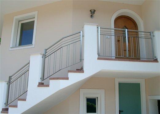 Geländer Inox für eine Außenstiege