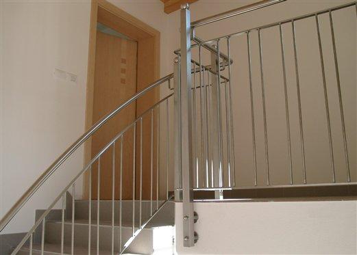 Stiegengeländer Material rostfreier Stahl satiniert