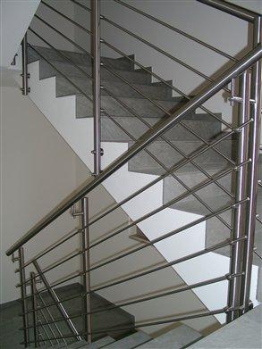 Stiegen-Geländer Material Inox satiniert(Wohnhaus Verdings/Pardell Montage Oktober 2015