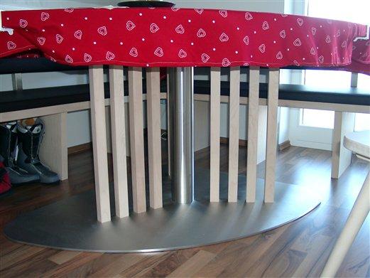Esstischgestell Inox Holz