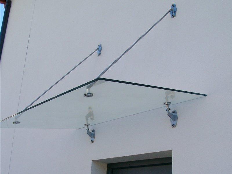 Vordach mit Punkt/Stangenhalterungen Inox in Auer
